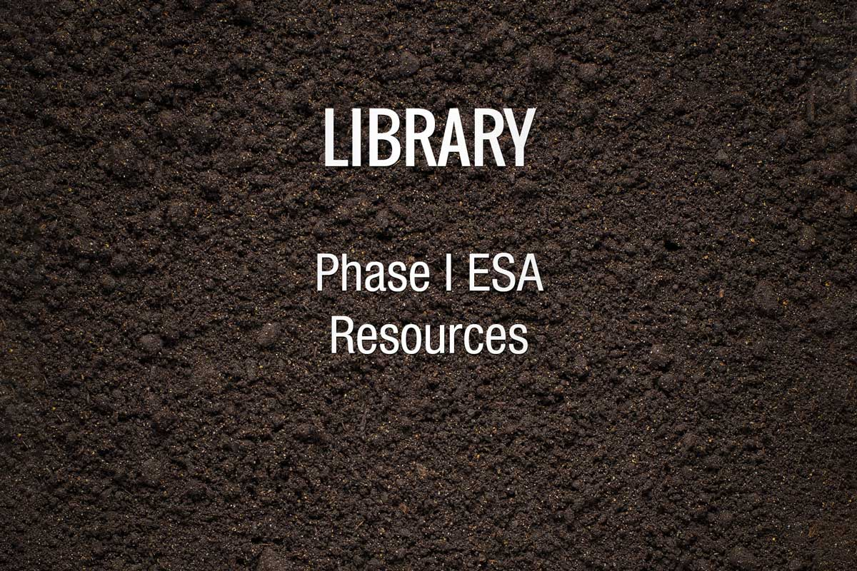 Phase I ESA Library Resources